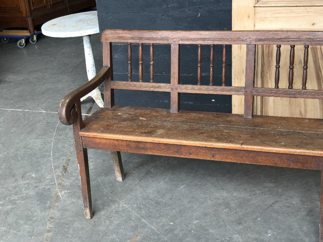Astonishing 19Th Century Country Oak And Pine Hall Bench Or Farmhouse Spiritservingveterans Wood Chair Design Ideas Spiritservingveteransorg
