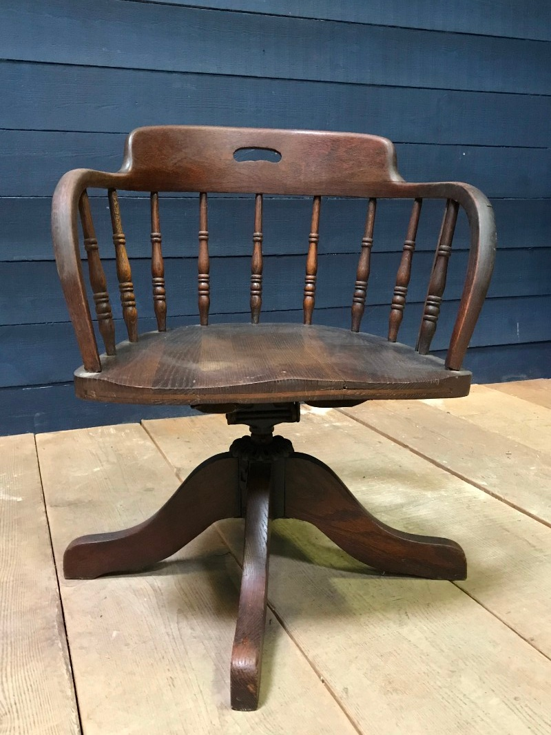 Excellent American Style Desk Chair Antiqueswarehouse Recent Added Ibusinesslaw Wood Chair Design Ideas Ibusinesslaworg