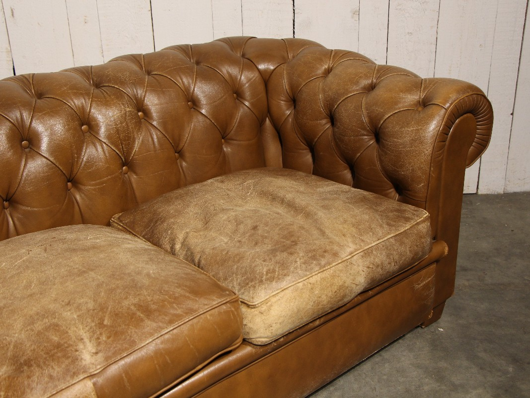 Antique Chesterfield Sofa In Brown