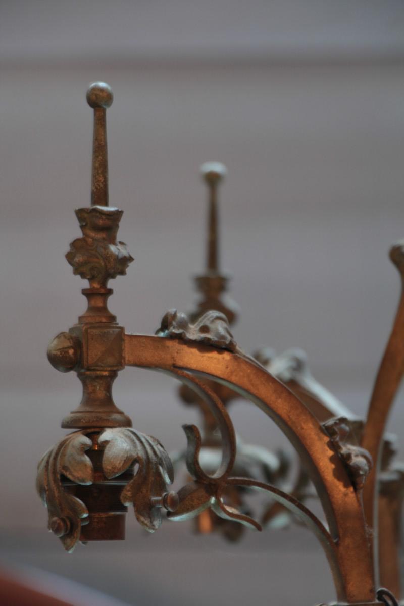 Arts and crafts chandelier lighting european antique for Arts and crafts chandelier
