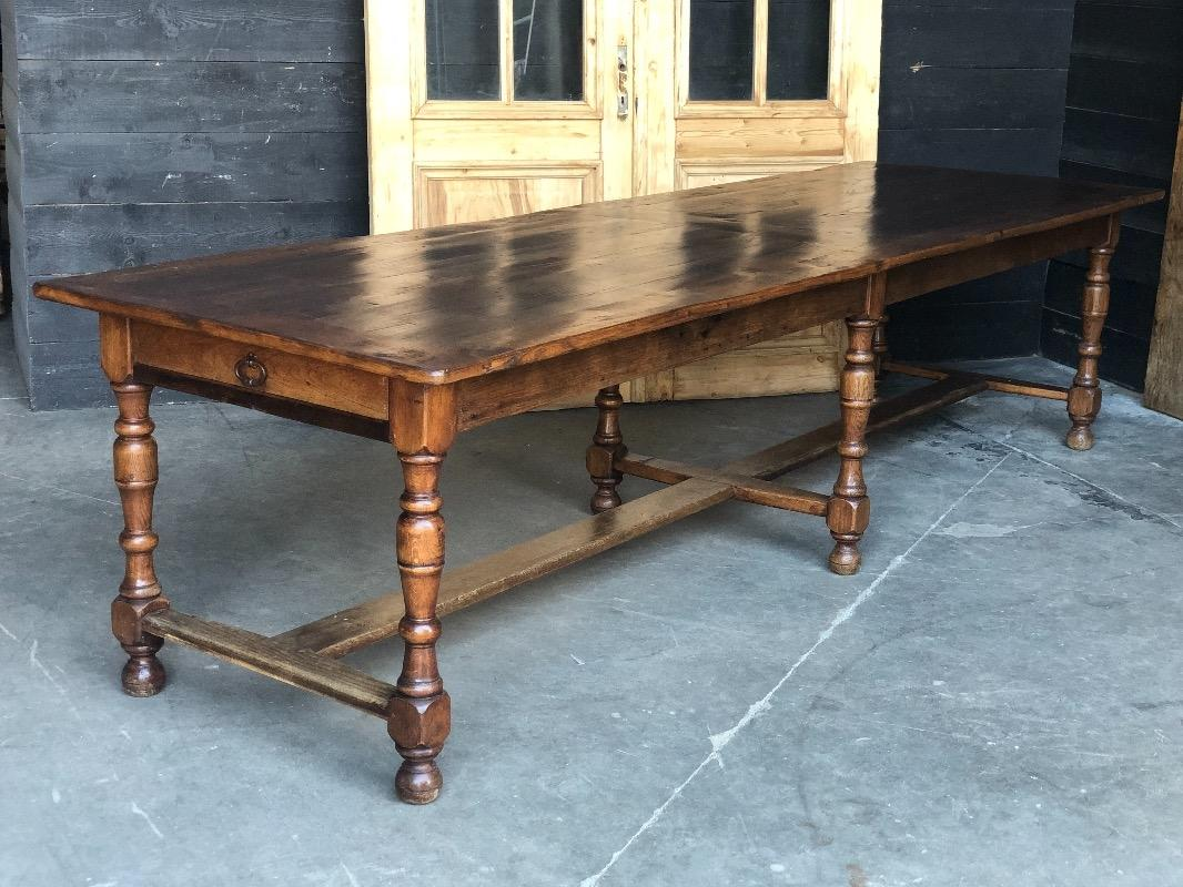 Terrific Country French Chestnut And Cherry Wood Farmhouse Table Interior Design Ideas Gentotryabchikinfo
