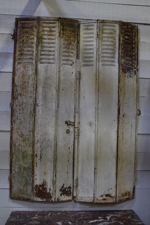 Folding metal shutters architecturals european antique for European shutters