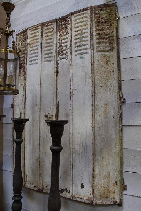 Folding Metal Shutters Architecturals European Antique