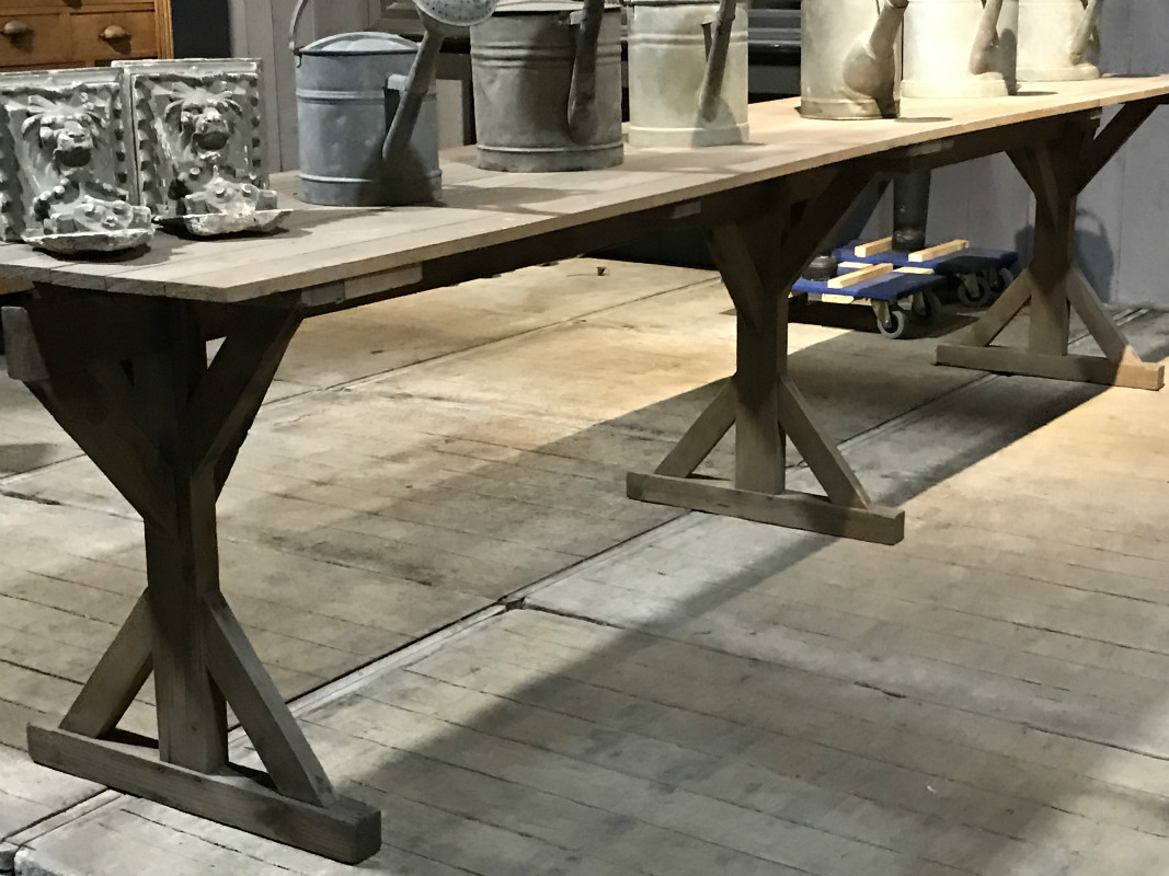 Industrial Work Table In Pine Wood 1920   IMPRESSIONS   European Antique  Warehouse