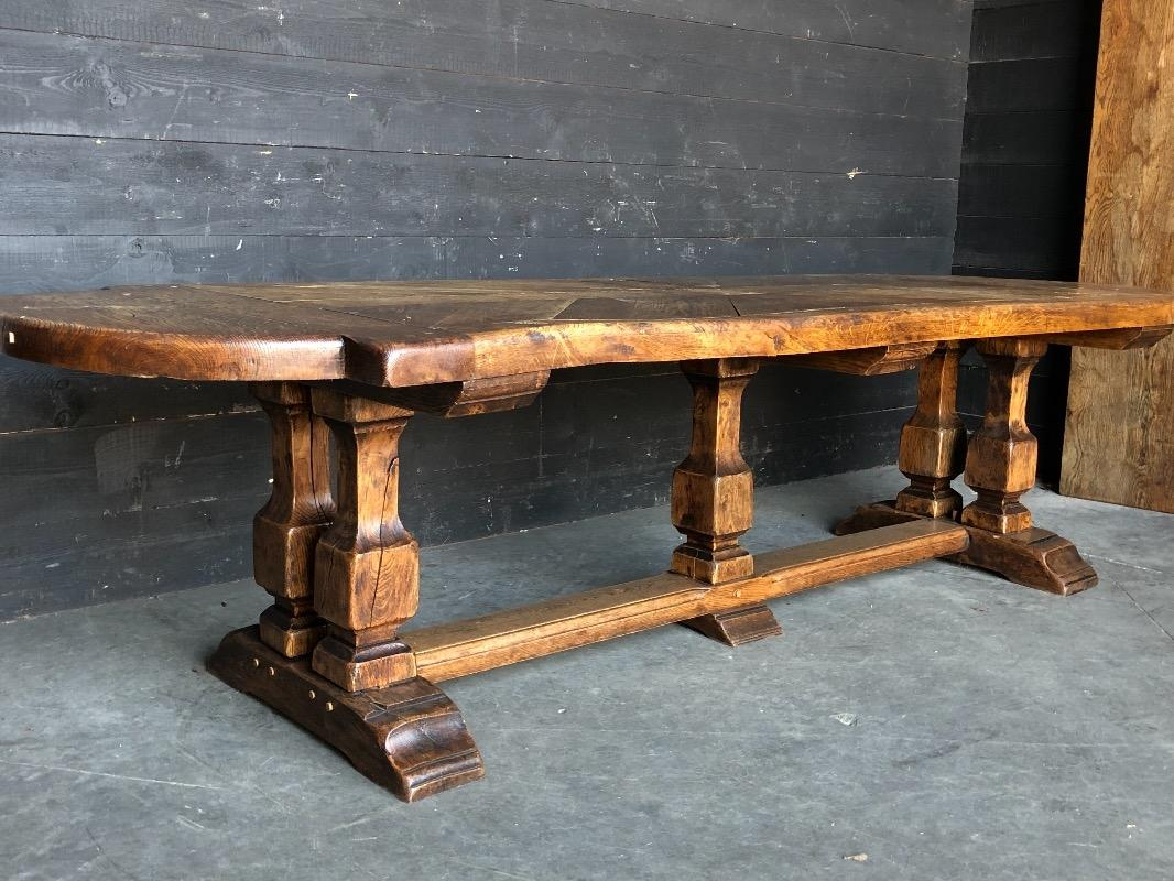 Picture of: Large Oak Closter Style Dining Table Antiqueswarehouse Recent Added Items European Antiques Decorative