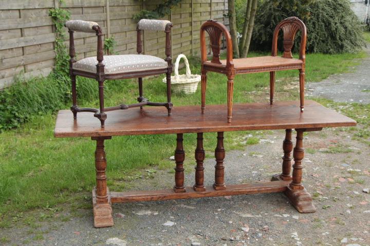 louis 16 caned bench fauteuils european antique warehouse. Black Bedroom Furniture Sets. Home Design Ideas