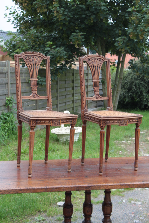 Louis 16 side chairs fauteuils european antique warehouse - Chaises d appoint pliantes ...