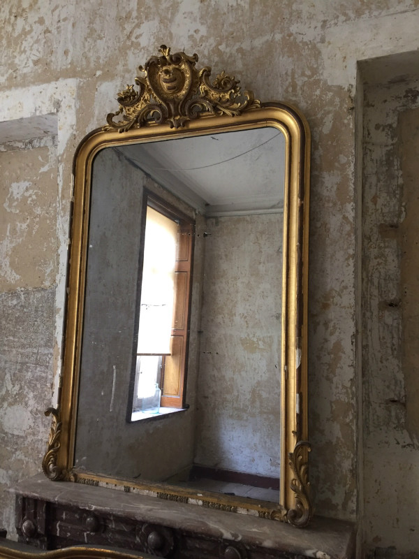 Louis philippe gilt mirror mirrors european antique for Miroir style louis philippe