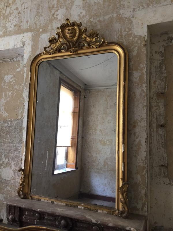 louis philippe gilt mirror vendu european antique warehouse. Black Bedroom Furniture Sets. Home Design Ideas