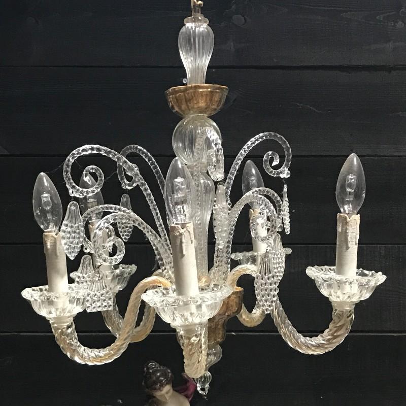 Glass Lieges Chandelier Luminaires European Antique Warehouse
