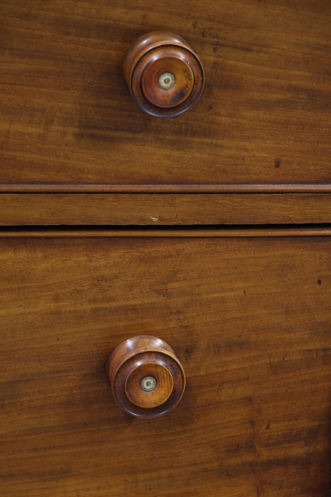 Enflish mahogany 6 drawers cabinet  Mobilier  European Antique Warehou -> Meubles Anglais Acajou