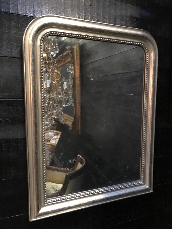 Silvered louis philippe french mirror miroirs european antique warehouse for Miroir louis philippe prix