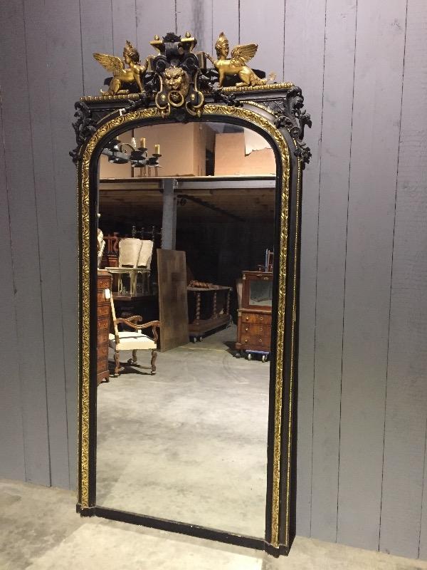 Miroir napoleon 3 avec sphinx france epoque napoleon 3 for Miroir napoleon