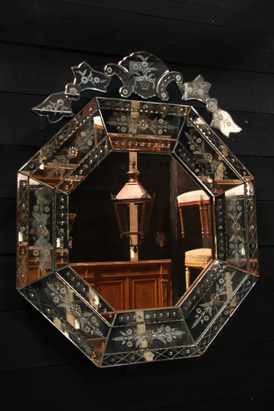 Miroir v nitien miroirs european antique warehouse for Miroir venitien
