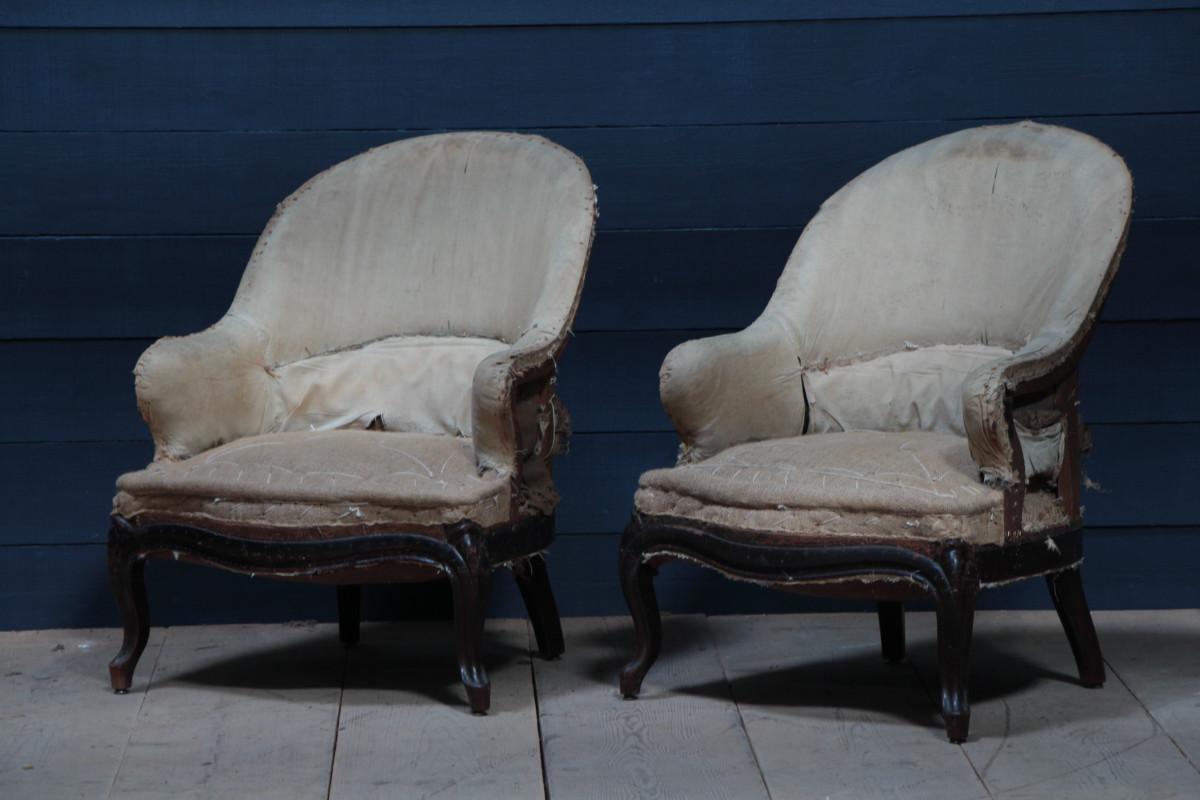 napoleon iii pair napoleon iii armchairs fauteuils european antique warehouse. Black Bedroom Furniture Sets. Home Design Ideas
