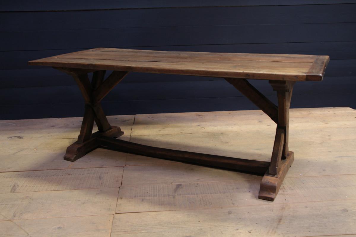 Primitive oak dining table - DINING TABLES - TABLES - European ...