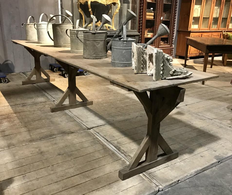 industrial work table mobilier industriel et de metier european antique warehouse. Black Bedroom Furniture Sets. Home Design Ideas