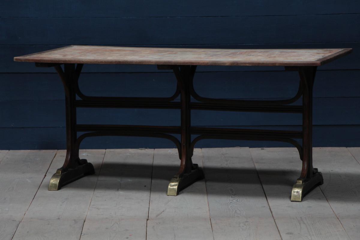 table thonet style bistrot tables dinatoires european antique warehouse. Black Bedroom Furniture Sets. Home Design Ideas