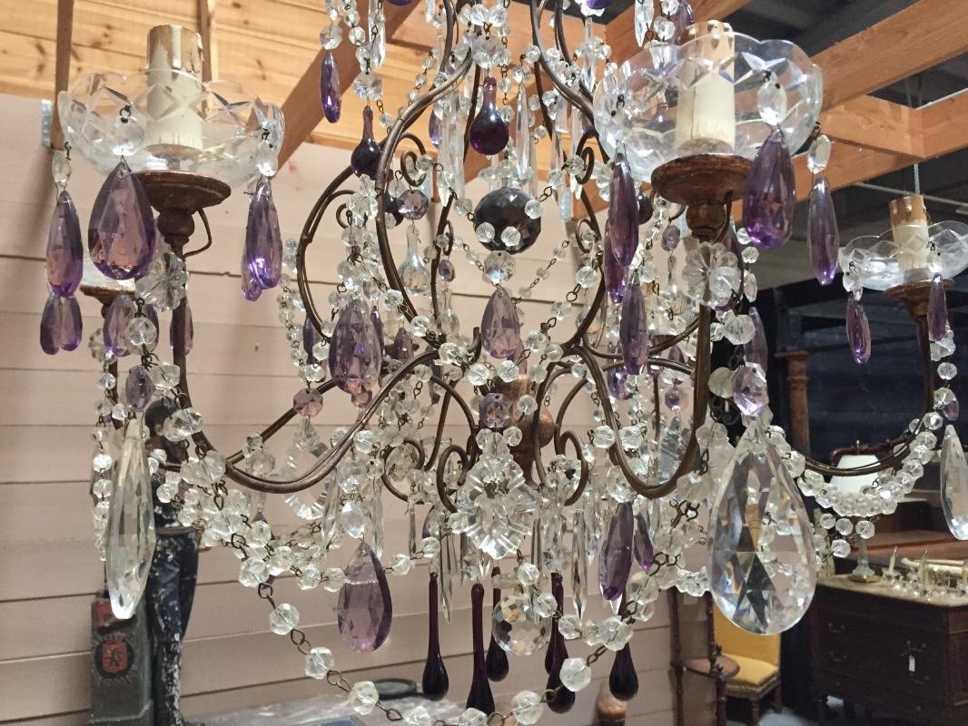 very d corative italian colored glas chandelier lighting. Black Bedroom Furniture Sets. Home Design Ideas