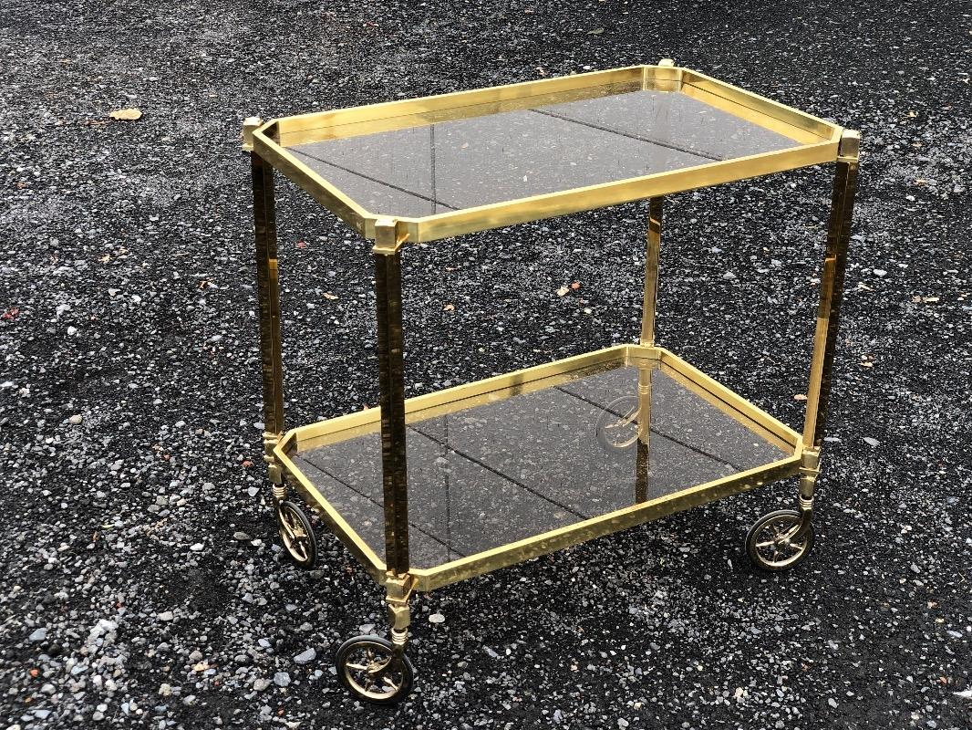 Vintage Brass Trolley Bar Cart Antiqueswarehouse Recent Added Items European Antiques Decorative