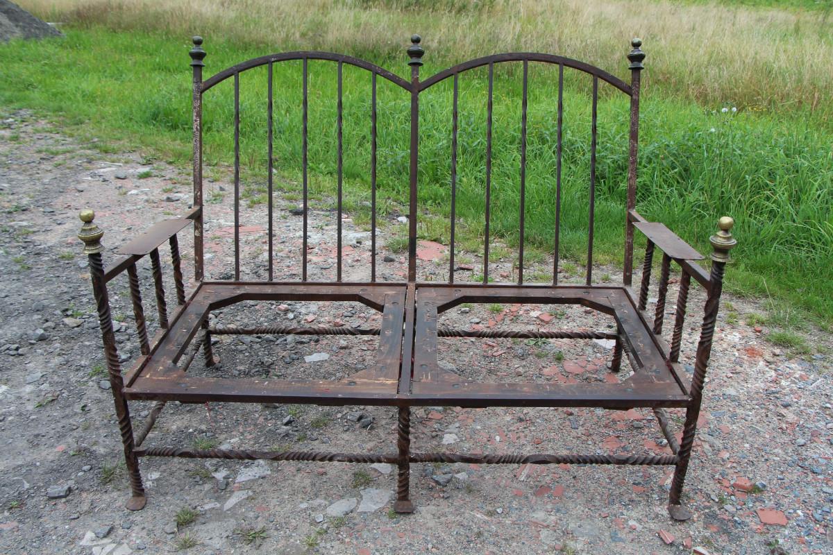 Wrought Iron Spanish Sofa Spain 19th Century Sofa Seating European Antique Warehouse